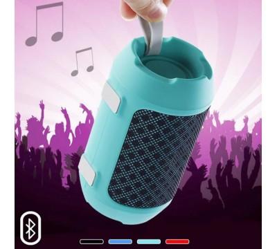 Портативная Bluetooth колонка BS-116 встроенный MP3 плеер, Hi-Fi Stereo, FM радио, поддержка громкой связи, покрытая тканью