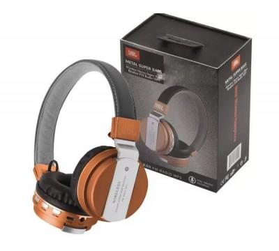 Беспроводные накладные Bluetooth наушники JBL JB55 METAL SUPER BASS со встроенным MP3 плеером и FM радио
