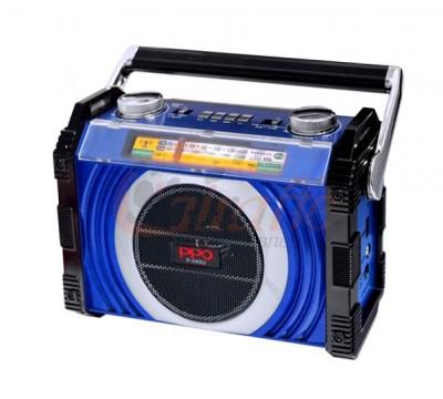 Дорожный радиоприемник PPO P-045U FM/АМ/SW со встроенным MP3 плеером и фонариком на торце